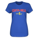 Costa Rica CONCACAF Gold Cup 2015 Women's Big Logo T-Shirt (Royal)
