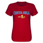 Costa Rica CONCACAF Gold Cup 2015 Women's Big Logo T-Shirt (Red)