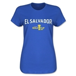 El Salvador CONCACAF Gold Cup 2015 Women's Big Logo T-Shirt (Royal)