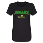 Jamaica CONCACAF Gold Cup 2015 Women's Big Logo T-Shirt (Black)