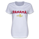 Panama CONCACAF Gold Cup 2015 Women's Big Logo T-Shirt (White)
