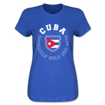 CONCACAF Gold Cup 2015 Cuba Women's T-Shirt (Royal)