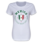 CONCACAF Gold Cup 2015 Mexico Women's T-Shirt (White)