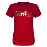 Mexico Campeones Spanish Women's T-Shirt (Red)
