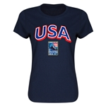 USA CONCACAF 2015 Men's Olympic Qualifying Women's T-Shirt (Navy)