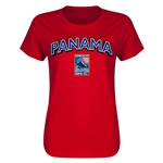 Panama CONCACAF 2015 Men's Olympic Qualifying Women's T-Shirt (Red)