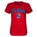 Cuba CONCACAF 2015 Men's Olympic Qualifying Women's T-Shirt (Red)