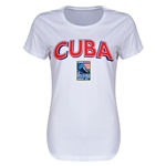 Cuba CONCACAF 2015 Men's Olympic Qualifying Women's T-Shirt (White)