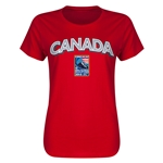 Canada CONCACAF 2015 Men's Olympic Qualifying Women's T-Shirt (Red)