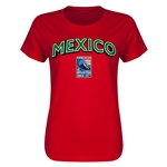 Mexico CONCACAF 2015 Men's Olympic Qualifying Women's T-Shirt (Red)