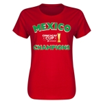 Mexico CONCACAF 2015 Cup Champions Women's T-Shirt (Red)