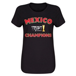 Mexico CONCACAF 2015 Cup Champions Women's T-Shirt (Black)