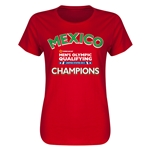 Mexico CONCACAF Men's Olympic Qualifying Champions Women's T-Shirt (Red)