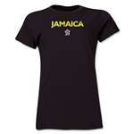 Jamaica CONCACAF Distressed Women's T-Shirt (Black)