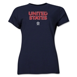 USA CONCACAF Distressed Women's T-Shirt (Navy)