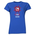 Chile Copa America 2015 Banderas Women's T-Shirt (Royal)