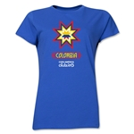 Colombia Copa America 2015 Banderas Women's T-Shirt (Royal)