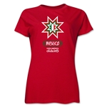 Mexico Copa America 2015 Banderas Women's T-Shirt (Red)