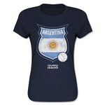 Argentina Copa America 2015 Badge Women's T-Shirt (Navy)