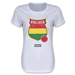 Bolivia Copa America 2015 Badge Women's T-Shirt (White)