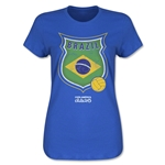 Brazil Copa America 2015 Badge Women's T-Shirt (Blue)