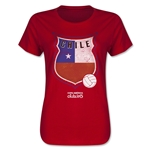 Chile Copa America 2015 Badge Women's T-Shirt (Red)