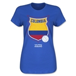 Colombia Copa America 2015 Badge Women's T-Shirt (Blue)