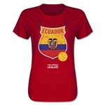 Ecuador Copa America 2015 Badge Women's T-Shirt (Red)
