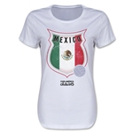 Mexico Copa America 2015 Badge Women's T-Shirt (White)