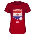 Paraguay Copa America 2015 Badge Women's T-Shirt (Red)