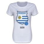 Uruguay Copa America 2015 Badge Women's T-Shirt (White)