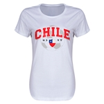 Chile Copa America 2015 Women's T-Shirt (White)