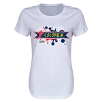 Colombia Copa America 2015 Women's T-Shirt (White)