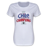 Chile Copa American 2015 Champions Women's T-Shirt (White)
