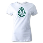 Club Santos Laguna Women's Distressed T-Shirt (White)