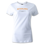 Netherlands FIFA Beach World Cup 2013 Women's T-Shirt (White)