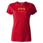 Spain FIFA Beach World Cup 2013 Women's T-Shirt (Red)
