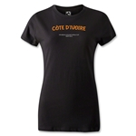 Cote D'Ivoire FIFA Beach World Cup 2013 Women's T-Shirt (Black)