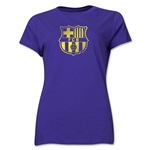 Barcelona Stripe Logo Women's T-Shirt (Purple)