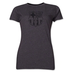 Barcelona Distressed Women's T-Shirt (Dark Gray)