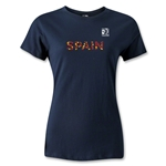 FIFA Confederations Cup 2013 Women's Spain T-Shirt (Navy)