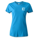 FIFA Confederations Cup 2013 Women's Small Emblem T-Shirt (Turquoise)