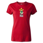 1970 FIFA World Cup Juanito Mascot Women's T-Shirt (Red)
