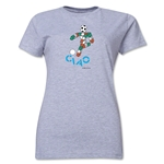 1990 FIFA World Cup Ciao Mascot Women's T-Shirt (Gray)