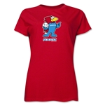 1998 FIFA World Cup Footix Mascot Women's T-Shirt (Red)