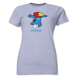 1998 FIFA World Cup Footix Mascot Women's T-Shirt (Gray)