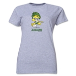 2010 FIFA World Cup Zakumi Mascot Women's T-Shirt (Gray)