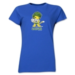 2010 FIFA World Cup Zakumi Mascot Women's T-Shirt (Royal)