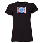 1966 FIFA World Cup England Women's Historical Emblem T-Shirt (Black)