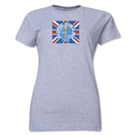 1966 FIFA World Cup England Women's Historical Emblem T-Shirt (Grey)
